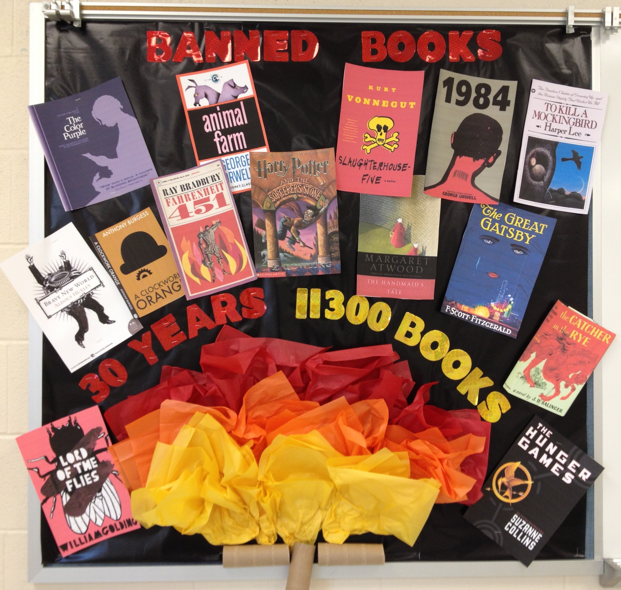 banned books bulletin board